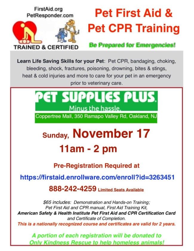 Pet First Aid & Pet CPR Training